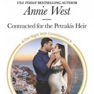 Spotlight & Giveaway: Contracted for the Petrakis Heir by Annie West